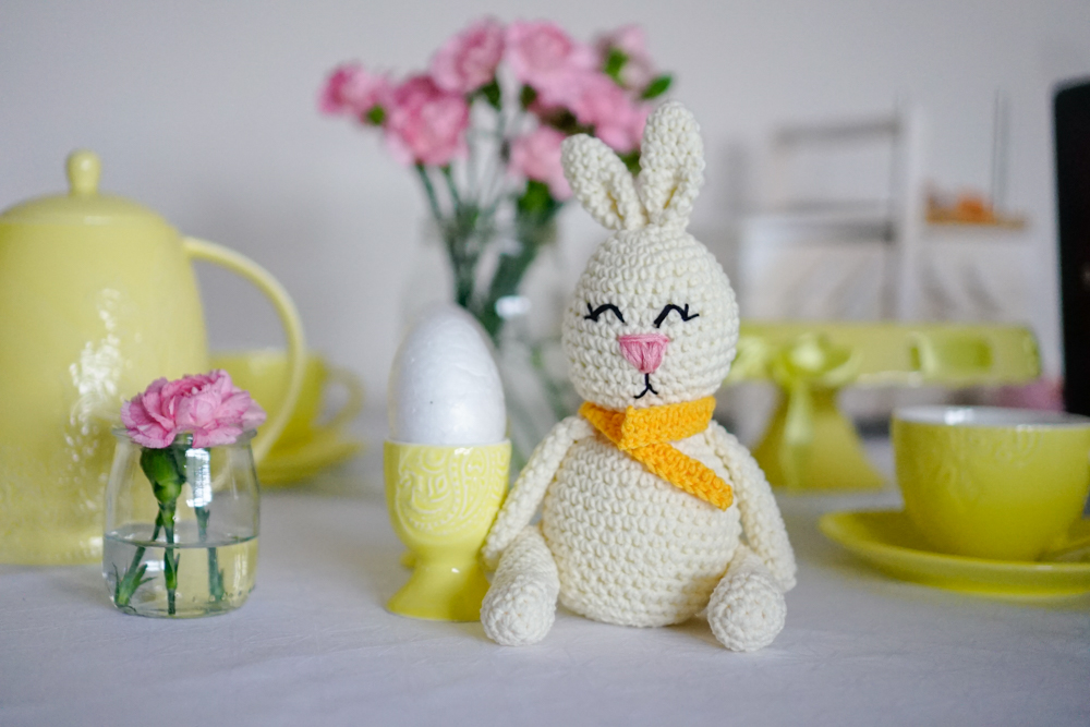 wzór na królika na szydełku