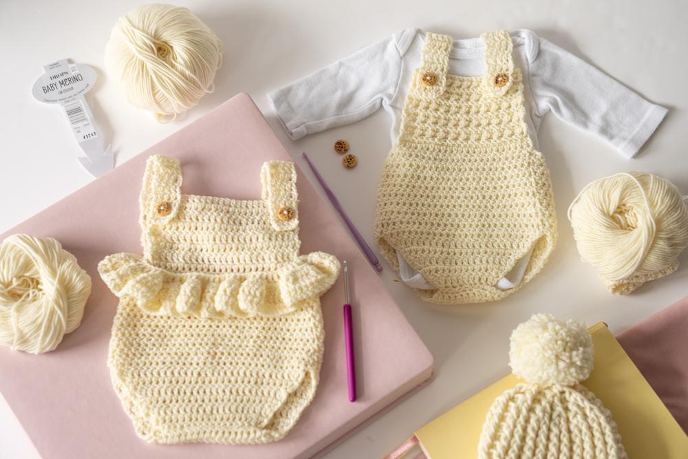 Ubranka dla noworodka na szydełku